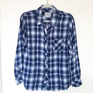 Rails Hunter Blue Soft Button Down Cardigan